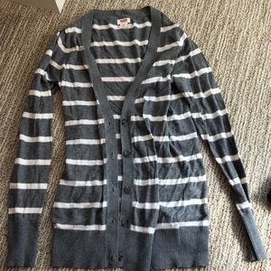 Stripped cardigan sweater